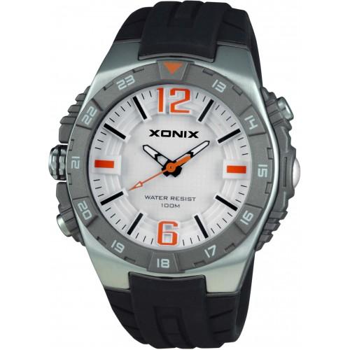 XONIX Mens Black Silicone Strap XJ-004