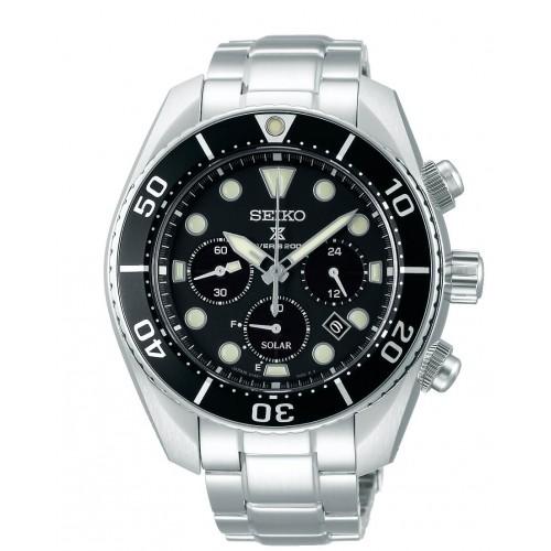 SEIKO Prospex Solar Divers Silver Stainless Steel Bracelet SSC757J1