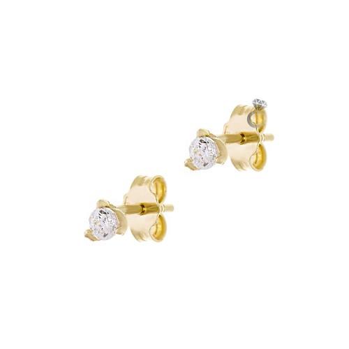 Σκουλαρίκια Γυναικεία Χρυσά 14κ (0,3 εκ διάμετρος)