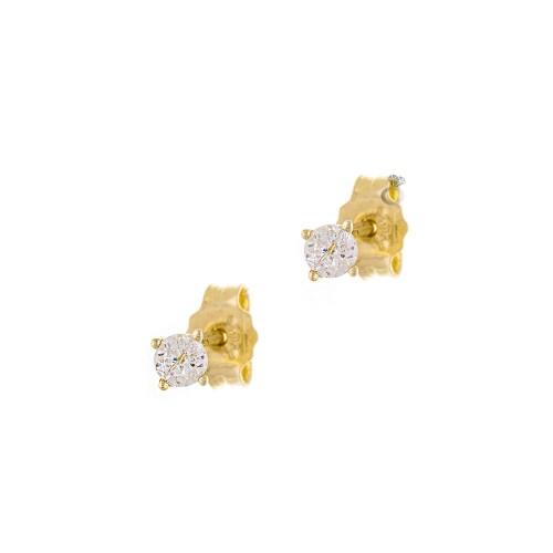 Σκουλαρίκια Γυναικεία Χρυσά 14κ (0,4 εκ διάμετρος)