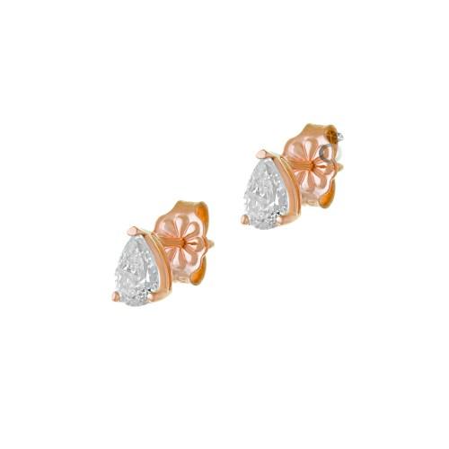 Σκουλαρίκια Γυναικεία Μονόπετρα (ύψος 0,7εκ)