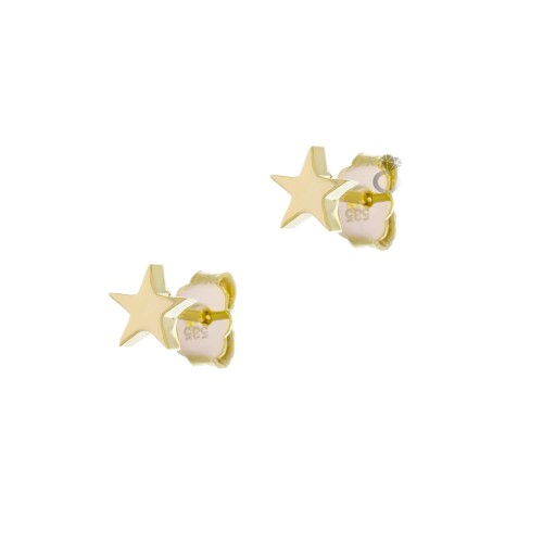 Σκουλαρίκια Αστέρια , Χρυσά 14Κ